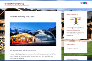 Screenshot Blog Romantik Hotel Hornberg