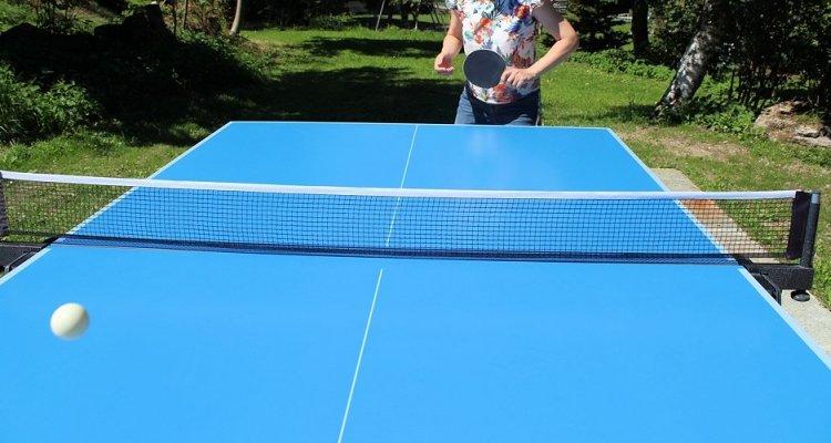 Die Tischtennisplatte ist wieder da - auf gutem Grund!